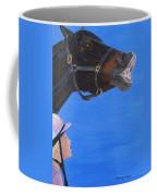Funny Face - Horse And Child Coffee Mug