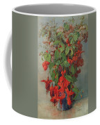 Fushia And Snapdragon In A Vase Coffee Mug