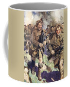 Gallant Piper Leading The Charge Coffee Mug by Cyrus Cuneo