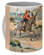 Galloping Donkey At The Beach Coffee Mug
