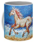 Galloping Horse On Beach Coffee Mug