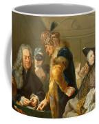 Gamblers In The Foyer Coffee Mug by Johann Heinrich Tischbein