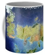 Game Of Thrones World Map Coffee Mug by Gianfranco Weiss