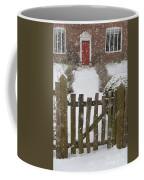 Garden Gate In Snow Coffee Mug