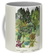 Garden In Llandielo, 1999 Watercolour On Paper Coffee Mug