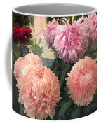 Garden Of Mixed Pink Chrysanthemums Coffee Mug