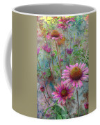 Garden Pink And Abstract Painting Coffee Mug