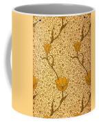 Garden Tulip Wallpaper Design Coffee Mug by William Morris