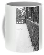 Garden Wall The Mount In Winter Coffee Mug