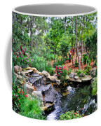 Garden Waterfall And Pond Coffee Mug