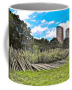 Garden With Bamboo Garden Fence In Battery Park In New York City-ny Coffee Mug by Ruth Hager