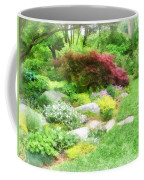 Garden With Japanese Maple Coffee Mug