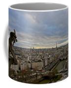 Gargoyle And The Eiffel Tower Coffee Mug