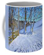 Gate And Trees Winter Dam Lane Derbyshire Coffee Mug
