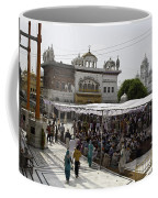 Gathering Inside The Golden Temple In Amritsar Coffee Mug