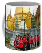 Gathering Near Pagodas Of Grand Palace Of Thailand In Bangkok Coffee Mug