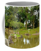 Gazebo Trees Lake And Rock Garden In Singapore Chinese Gardens Coffee Mug