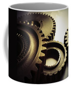 Gears Coffee Mug by Les Cunliffe