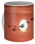 Geese Against The Sun Coffee Mug