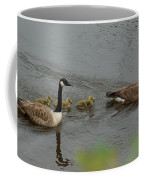 Geese And Goslings At The Flint River Coffee Mug