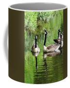 Geese And Green Coffee Mug