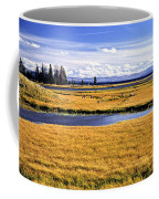 Geese At Yellowstone Lake Coffee Mug