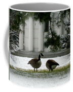 Geese In Snow Coffee Mug