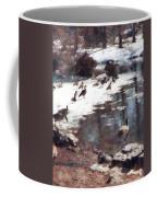 Geese On An Icy Pond Coffee Mug