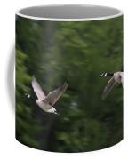 Geese Pair In Flight Coffee Mug