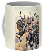 General Mcclellan At The Battle Coffee Mug by Henry Alexander Ogden