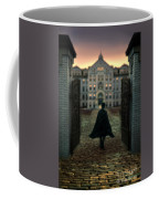 Gentleman In Top Hat And Cape Walking Through Gates Coffee Mug