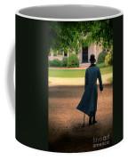 Gentleman Walking Towards A House Coffee Mug