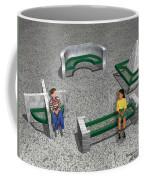 Geo Benches Coffee Mug by Peter Piatt