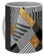 Geo Stripes In Gold And Black II Coffee Mug