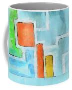 Geometric Abstract Coffee Mug by Pixel Chimp
