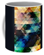 Geometric Textural Colorations Coffee Mug