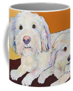 George And Henry Coffee Mug by Pat Saunders-White