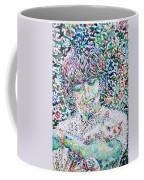 George Harrison With Cat Coffee Mug