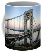 George Washington Bridge Sunset Coffee Mug by Susan Candelario