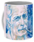 Georges Brassens - Watercolor Portrait Coffee Mug