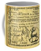 Georgia Banknote, 1777 Coffee Mug