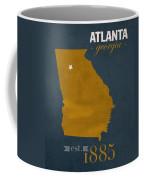 Georgia Tech University Yellow Jackets Atlanta College Town State Map Poster Series No 043 Coffee Mug