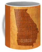 Georgia Word Art State Map On Canvas Coffee Mug by Design Turnpike