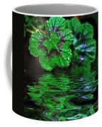 Geranium Leaves - Reflections On Pond Coffee Mug