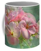 Geraniums With Texture Coffee Mug