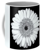 Gerbera Daisy Monochrome Coffee Mug by Adam Romanowicz