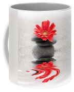 Gerbera Reflection Coffee Mug by Delphimages Photo Creations