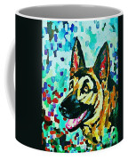 German Shepard Watercolor Coffee Mug