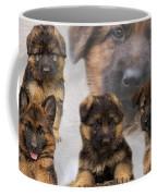German Shepherd Puppy Collage Coffee Mug