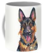 German Shepherd Watercolor Coffee Mug